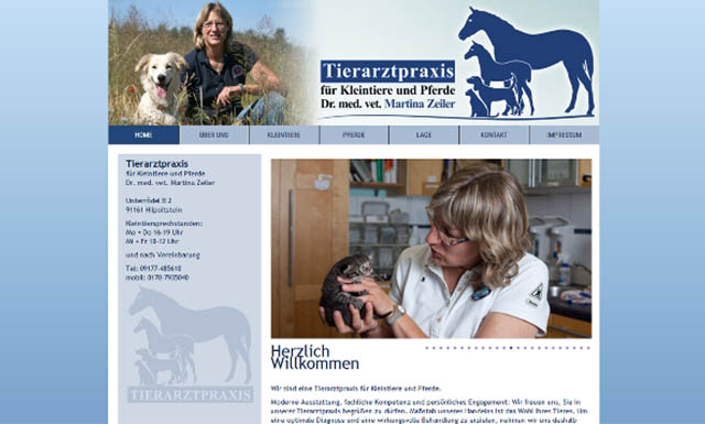 Responsive CMS website for a veterinary practice